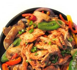 Picaringa™ marinated Chicken and Bell Pepper fajitas